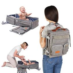 Travel Bassinet - 3 in 1 Diaper Bag Backpack - Portable Baby