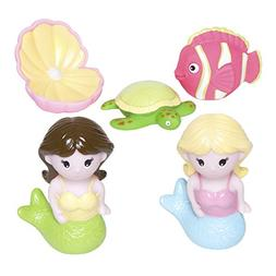 Elegant Baby 5 Piece Bath Time Fun Rubber Water Squirties Vi