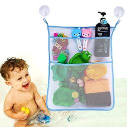 Bath Toy Organizer - Bathroom Tub Storage 3 Bonus Suction Cu