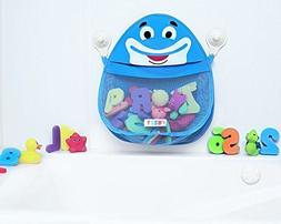 Bath Toy Organizer Storage - Blue Friendly Fish Bathtub Toy