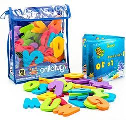 gufolino Baby Bath Toys - 36 Foam Letters and Numbers + Bath