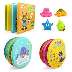 Growsland Baby Bath Toys 3 Pack Bath Books with Bath Squirt