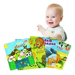 Baby bathing toy book book baby English cloth book 0-3 years
