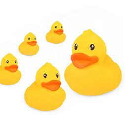 meibeile Bathtub Toys Bath Ducks for Baby with BB sounds 5-P