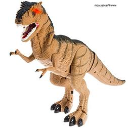 Prextex Battery Powered Walking Dinosaur Toy That Roars And