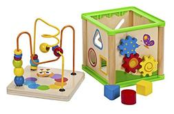 Bead Maze Activity Center For Kids - 5 In 1 Activity Cube Wo