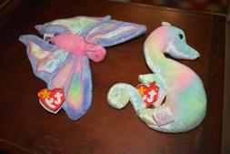 TY BEANIE BABIES NEON & FLITTER - SMOKE FREE, PET FREE ONLY