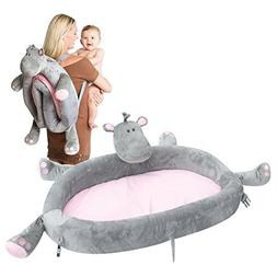 Baby Travel Bed - Portable Toddler Lounge Folds Into Backpac