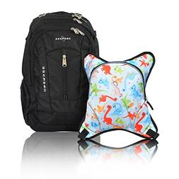 Obersee Bern Diaper Bag Backpack with Detachable Cooler, Din