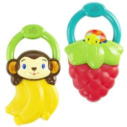 Bright Starts Berry Vibrating Teether, Set of 2 - Berry/Peel