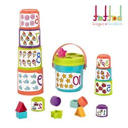 BEST Sort Stack Educational Stacking Cups with Numbers and S
