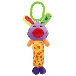 Bibi Stick Animal Shape Bell Rattle Shaker Grabbing Toy For