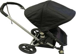 Black Canopy Sun Shade Seat Liner Basket for Bugaboo Strolle