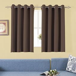 Aquazolax Blackout Curtains Window Drapes Luxurious Solid Ri