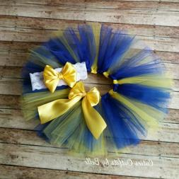 Blue and Yellow Baby Tutu up to 3t, Tutu for Toddlers, Baby