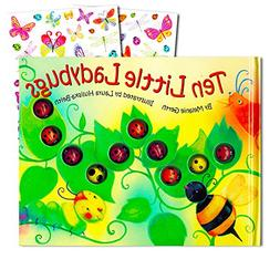 Ten Little Ladybugs Board Book Set For Kids Toddlers with St