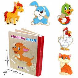 """Book Puzzle Educational Toy For Toddlers """"Farm Animals 2"""""""