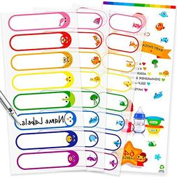 Baby Bottle Labels for Daycare, Waterproof Write-On Name Lab