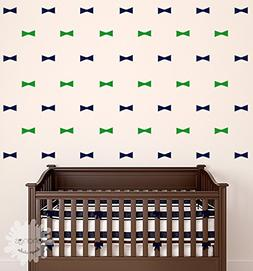 Bow Tie Wall Decal / 2 Color Bow Ties Wall Decal / 40 Bow Ti