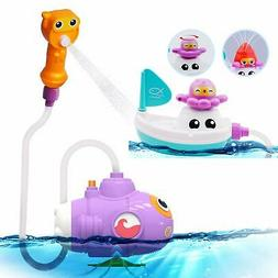 BPA Free Submarine Spray Bath toys & Boat Pipe - Water pump