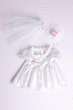 "Bride Outfit Teddy Bear Clothes Fit 14"" - 18"" Build-a-bear,"