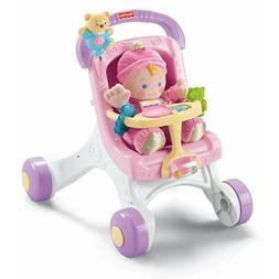 Fisher-Price Brilliant Basics Stroll-Along Walker with Baby'