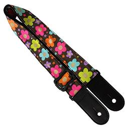 Xinlinke Fashion Brown Flowers Print Adjustable Strap for Uk