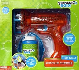 Discovery Bubble Blower Gun- Automatic Light up ( Blue, Gree