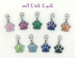 Buy 3 Get 3 Free! Dog or Cat Paw Clip-On Charms for Bracelet