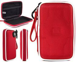 Cable Travel Storage Case | Fiesta Red EVA On-The-Go Univers
