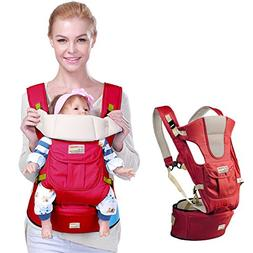 Baby Carrier Backpack, URVOGUE Breathable Baby Hip Seat Carr