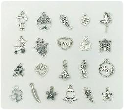 Charms for DIY Jewelry, Bracelets, Necklaces, Key Rings, Zip