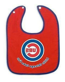 CHICAGO CUBS Baby Infant Bib Snap on FOR THE LITTLE CUBS FAN