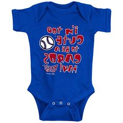 Chicago Cubs Fans. I'm Too Cute. Blue Onesie  and Toddler Te