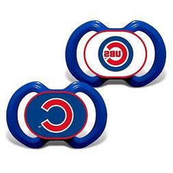 Chicago Cubs Pacifiers 2 Pack Set Infant Baby Fanatic BPA Fr