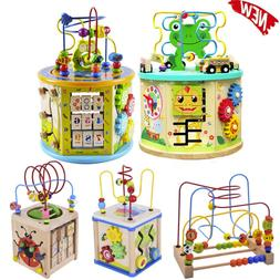 Activity Cube,Baby Educational Toys Wooden Activity Center B