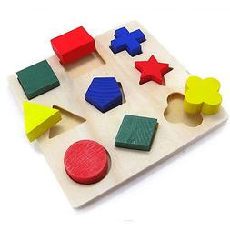 Children Baby Educational Wood Puzzle Shape Classification E