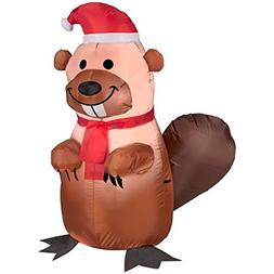 Christmas Decor Airblown Inflatable 3.5' Brown BEAVER
