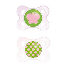 MAM Clear 0-6M 2-Pack Pacifiers in Pink