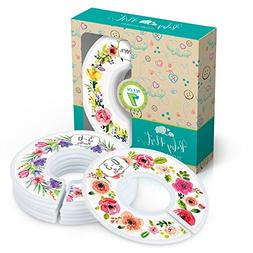 Baby Closet Dividers, Set of 7 Flower Bouquet Dividers Sized
