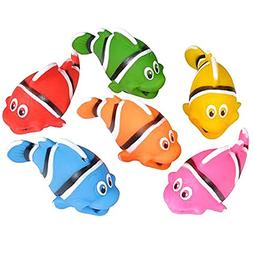 "Colorful 2"" Rubber Clownfish Fun Squirt Bath Toys For Babi"