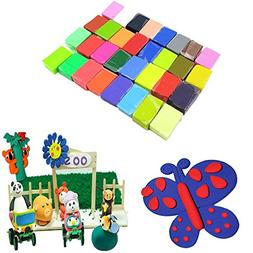 coffled 24 PCS Colorful Fimo Effect Polymer Clay Blocks Soft