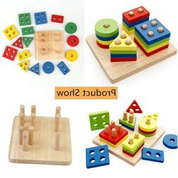 Colorful Geometric Shapes Matching Toys For Children Early L