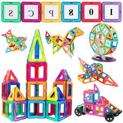 Jasonwell Construction Magnetic Tiles Building Blocks Toys S