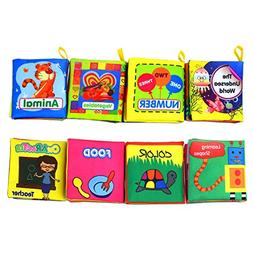 Coolplay Baby's First Non-Toxic Soft Cloth Book Set- Crinkle