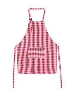 100% Cotton Children's Artists Aprons Canvas Kids Gingham Ap
