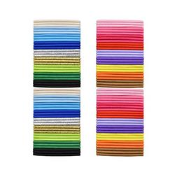 Ruyaa 180pcs No Crease Ouchless Stretch Hair Bands Elastic H