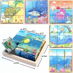 Cubes Blocks For Toddlers Educational Toy Puzzle // Sea Crea