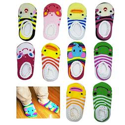 CXP Good Goods 10 pairs Cute Baby Ankle Cotton Toddler Strip