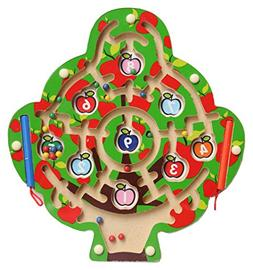 Greencherry Cute Apple Tree Shape Magnetic Maze Puzzle Game